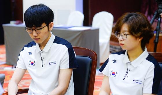 신진서·최정, 혼성페어전 금메달…한국, 3연속 종합우승
