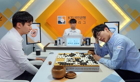 박정환, 진땀 반집승했지만 팀은 패배
