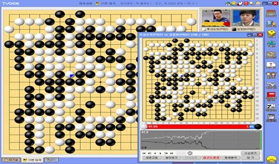 김정현, 격전 펼치며 투샤오위에 맞섰지만 패배