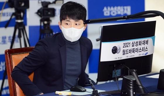 김지석, 반집으로 커제 제압