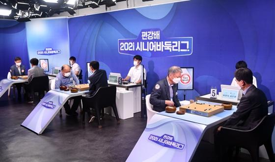 '4승3패 동률 5개팀' 초접전 시니어리그